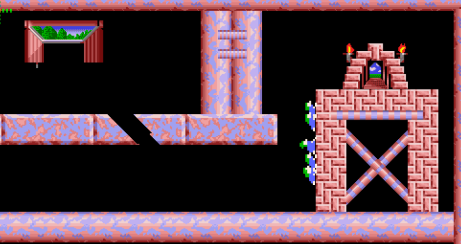 Lemmings niveau 4