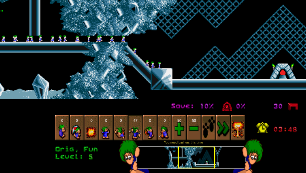 Lemmings niveau 5