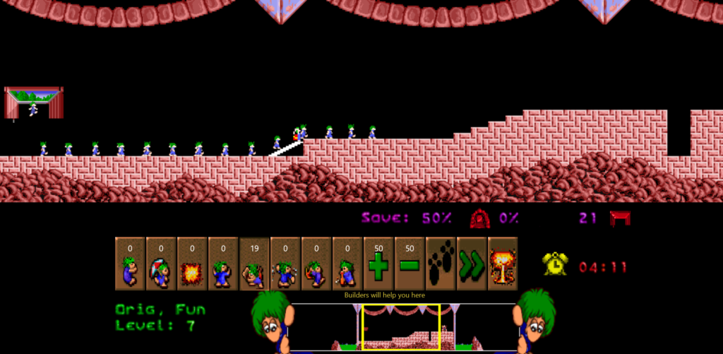 Lemmings level 7