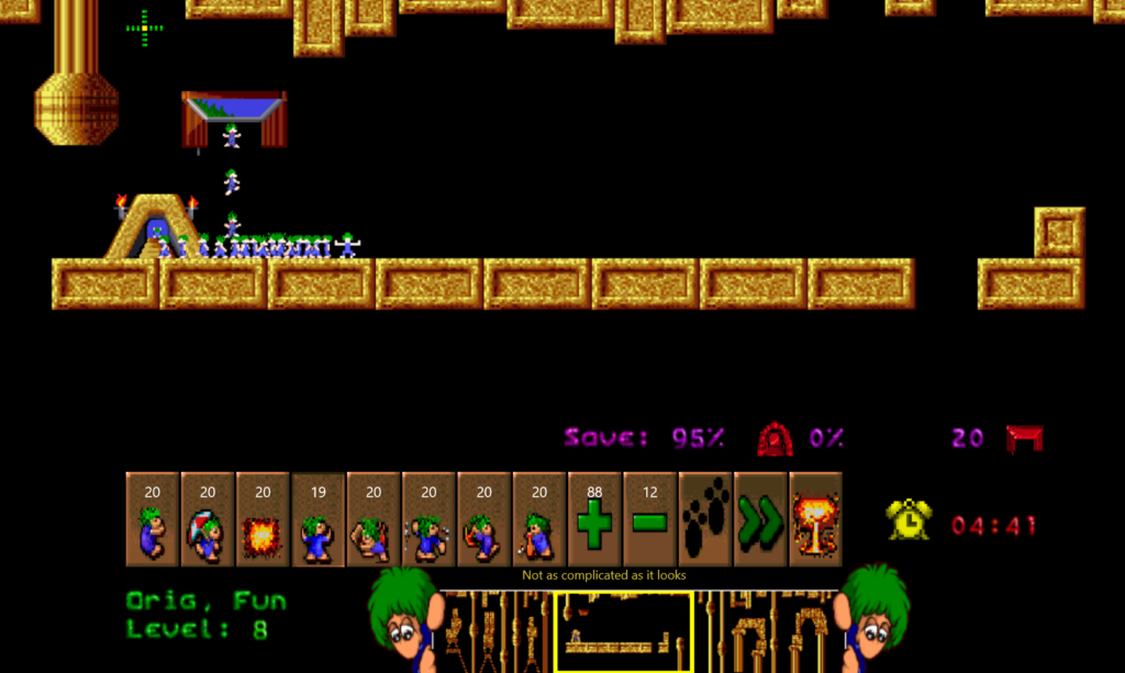 Lemmings level 8