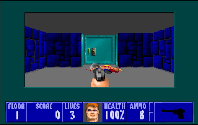 Première image du jeu Wolfenstein 3D