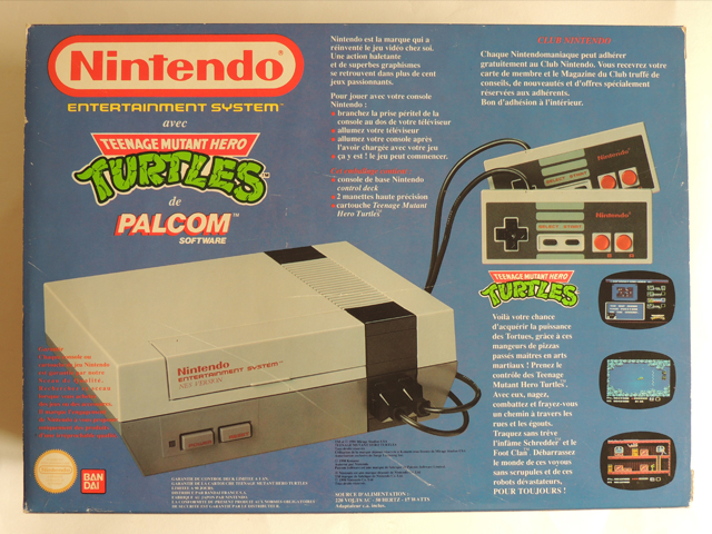 Dos du pack NES tortues ninja