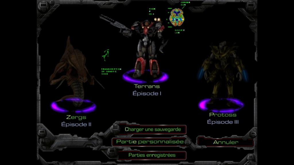 image des trois espèces disponible dans Starcraft